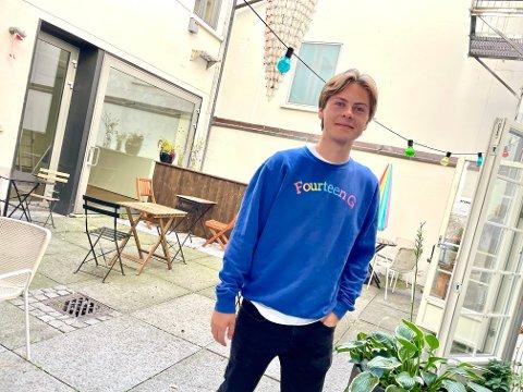 KREATIV: Jonas Kittilsen (22) står bak klesmerket 14G.