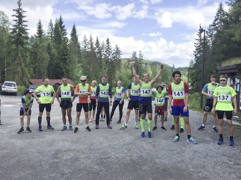 Raskest: Tor Alfred Bredesen (141) ble også i år raskeste løper rundt Tinnemyra. Toer ble Vebjørn Hovdejord (137). De to gjorde også opp om seieren under Tinfosløpet. (Alle foto: Rune Mork).