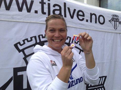 Mer gull: Slik ser den ut. Gullmedaljen. Bildet er tatt etter NM i fjor.