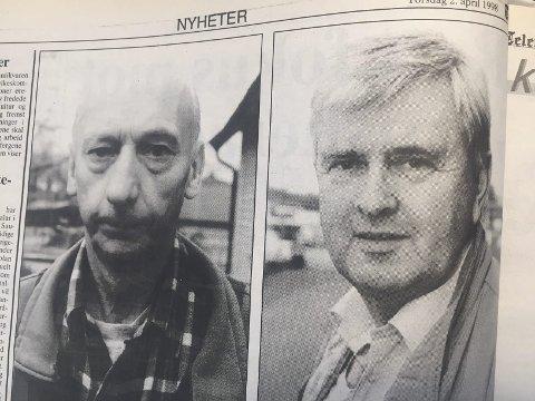 Bryter med partiet: Både Einar Bakka og Nils Bjørnflaten mener Tvervik her bryter med partiets linje.