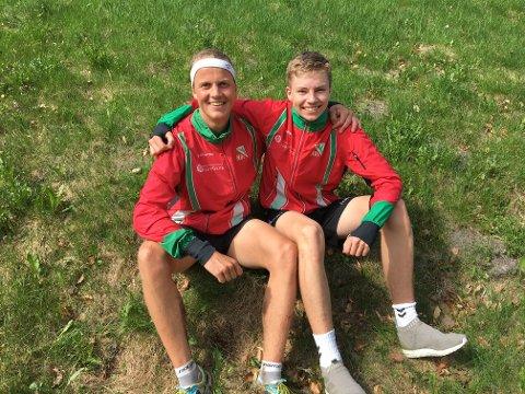 Simen Wästlund og Jakob Løe vant stafett-gull i orientering.