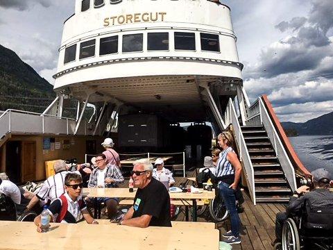 MÆL: Turen med MS Storegut gikk fra Mæl til Tinnoset.