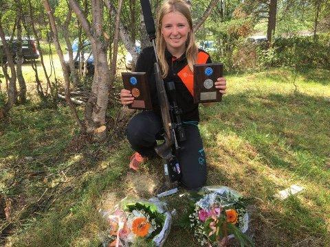 MEDALJER: Kaja Eriksen synes det var gøy å konkurrere under norgesmesterskapet, hvertfall når hun dro hjem med to medaljer i bagasjen.