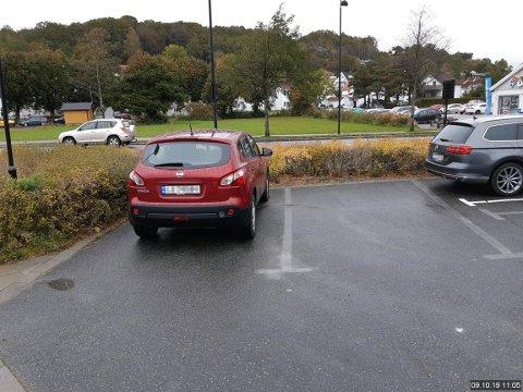 MARKERING: Er forskjellen på ny og gammel parkering godt nok markert?