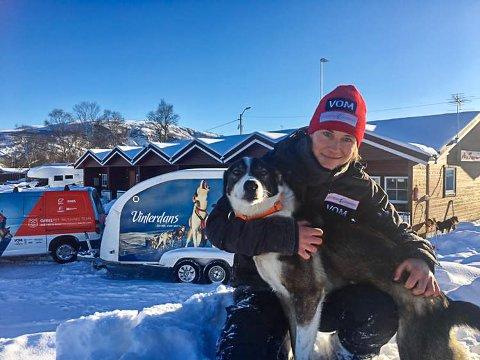 4. PLASS: Mari Beate Kasin kom på en fin 4. plass i Finnmarksløpet, og er nå på vei sørover igjen.