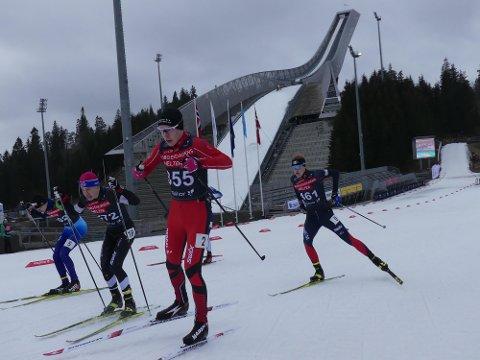 VEBJØRN IMPONERER: Vebjørn Hovdejord fra Heddal imponerte voldsomt under helgens NC-renn i Holmenkollen.