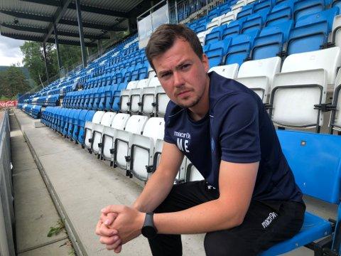 SKUFFET: Magnus Erga var klar i sin sak på at NFK ikke var gode nok etter 2-0-tapet mot Levanger.