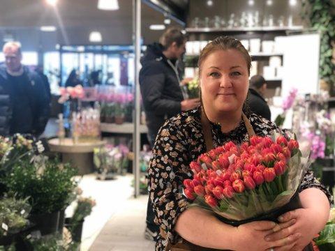 Daglig leder på Notodden Floriss, Heidi Berg.