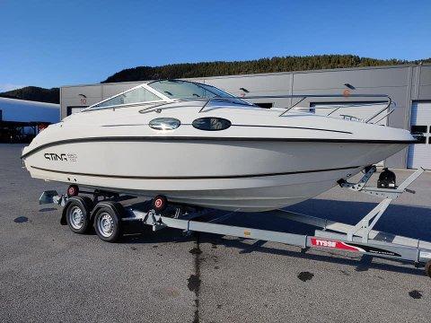 BLE HENTET: Selgeren av denne båten på Notodden kan ha blitt lurt av en kjøper.
