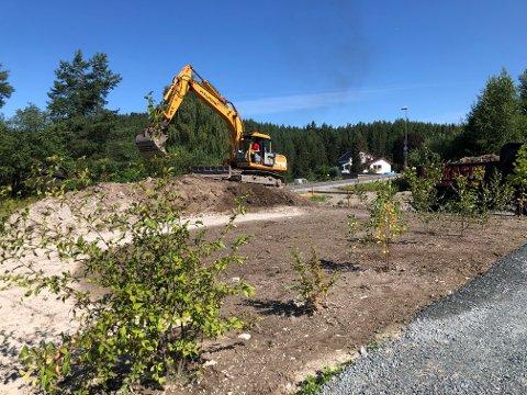 FALSK ALARM: Mange har trodd at tidligere prosjekterte leilighetsbygg nå gikk mot realisering i Høibøkåsa. Slik er det ikke...