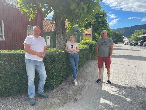 BOLIG: Borgar Løberg, Frida Haslekås og Reidar Solberg vil gjøre det lettere for unge og kjøpe bolig på Notodden.
