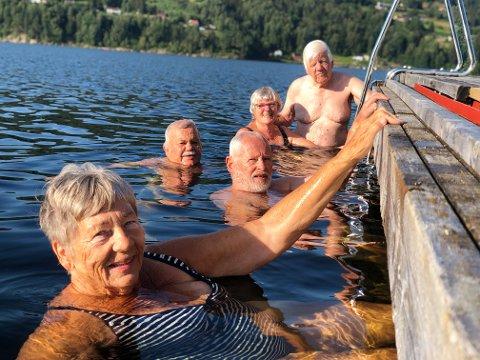 Fra venstre Torill Lund Hellebrekke (77), Per Tore Skjulestad (79), Oddvar Bolager (74), Anne Marit Arnoldsen (70) og Ove Arnoldsen (77).