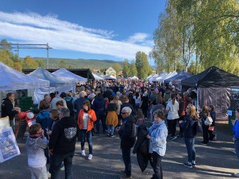 SUKSESS:Årets utgave av Norsk Eplefest hadde gratis inngang og folk strømmet til i det fine været.