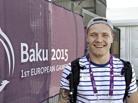 Felix Baldauf tapte sin første kamp i European Games etter å ha ledet.