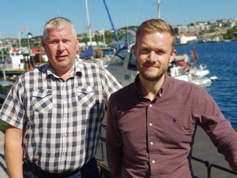 Torbjørn Sagen (til venstre) og nåværende stortingsrepresentant Vetle Wang Soleim er to av de 32 navnene på Høyre-lista.