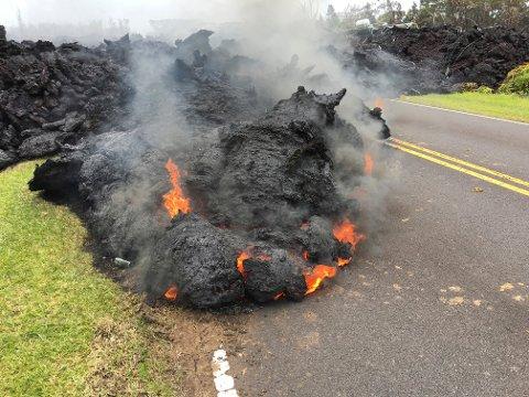 Lava fra Kilauea-vulkanen.