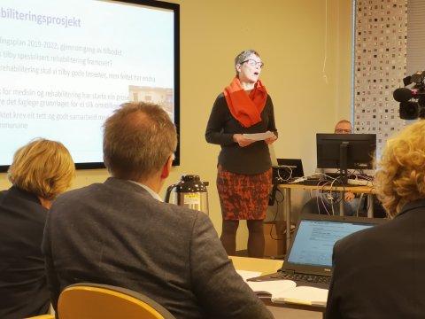 Klinikksjef Jorun Bøyum presenterte rehabiliteringsprosjektet i Helse Møre og Romsdal for styret i januar. - Vi tar det med oss videre, sier hun om kritikken mot utredningen.