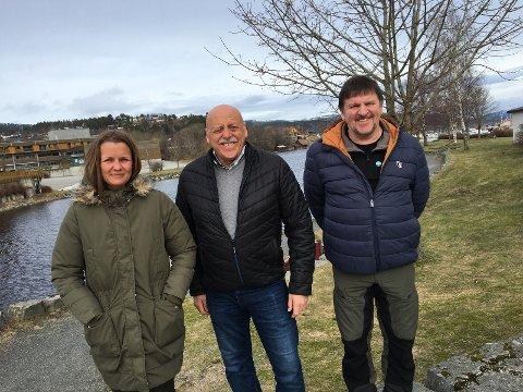 Listetoppene i Heim Senterparti fv. Marte Halvorsen , ordførerkandidat Odd Jarle Svanem, Steinar Berdal