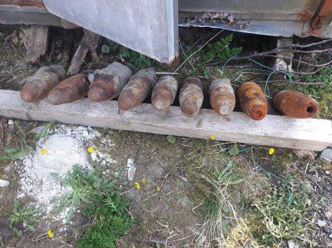 Det er funnet ytterligere 10 granater ved Edøya etter at arbeidet med stor forsiktighet ble gjenopptatt 9. april.