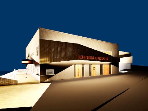 Slik blir Kulturfabrikken seende ut når det står ferdig i løpet av høsten. (Illustrasjon: Olset as)
