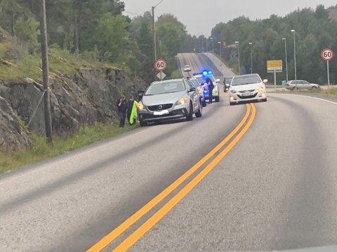 To biler kolliderte i Senterveien på Frei torsdag ettermiddag.