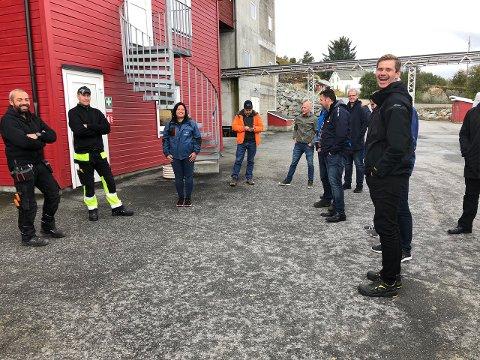 September 2019 - bedriftsbesøk i Aure, Bioparken for medlemmer av Ocean Network. Her et bilde fra Njord Salmon AS som nettopp var oppkjøpt av Lumarine AS. Høy stemning.