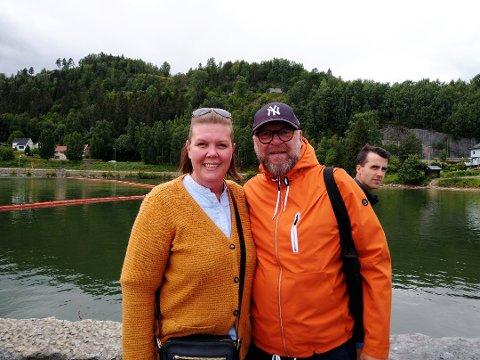 Camilla Thomassen og Jan Henrik Olsen har aldri seilt med Skibladner Før. Paret er på tur fra Kristiansund for å besøke familie i Mjøstraktene.