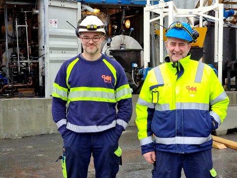 Optimister: Kolbjørn Høvik (til venstre) og Melvin van den Top har allerede begynt testingen av den nye teknologien.