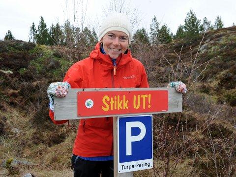 Den nye Stikk UT-sjefen, Sissel Haga Røeggen, lokker med 15 turmål i Averøy. – Vi har postkassemål som passer alle, sier friskusen som vil ha flest mulige ut på tur.