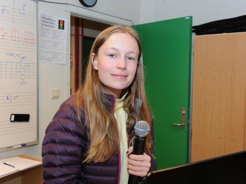 Embla Fagerli (14) grugleder seg til konserten som blir hennes første offentlige opptreden.