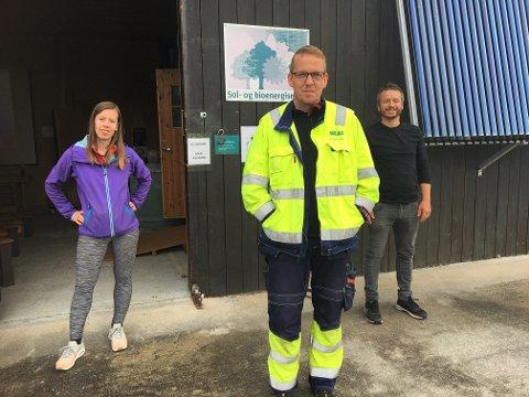 Et godt samarbeid. Lovise Sæther(fra venstre), Tarjei Kulø og Ingvar Kvande.