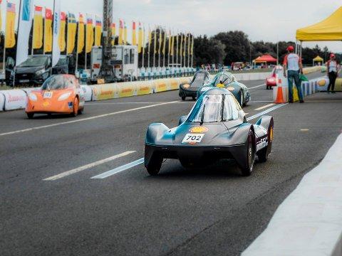 Her er bilen på konkurransen i London i 2019.