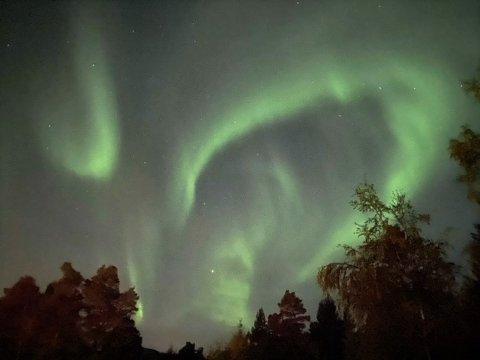 - Jeg sprang inn og hentet telefonen da jeg så det nydelige nordlyset fredag kveld, sier Mina Vaagland på Halsa.
