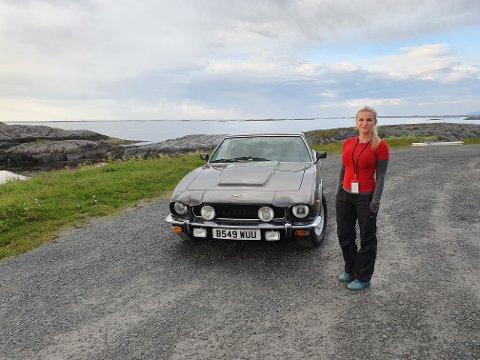 Hege Kolkinn sier at mange fikk øye på den kjente bilen.