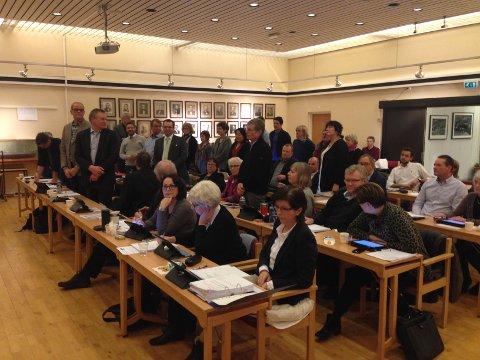 HER BLIR DET AVGJORT: Med en eneste stemmes overvekt vedtok kommunestyret på Nøtterøy å avslutte videre utredning av TNT, og å droppe folkeavstemning.