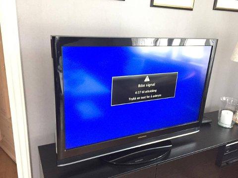 MANGLER OMKJØRINGSMULIGHETER: Abonnentene i Stokke beholdt TV-signalene, men manglet internett. I Larvik og Sandefjord gikk både TV- og nettbrett i svart.