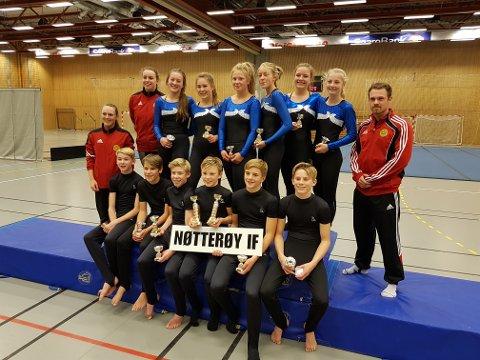 GODE RESULTATER: Både Nøtterøy Turn og Tønsberg Turn fikk gode plasseringer i helgens troppskonkurranse i Nøtterøyhallen.