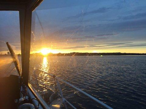 BIROLLE: To soler, eller? På vei mot Jarlsø så Terje Myhre dette fenomenet.