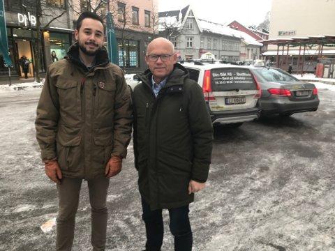 UISLIPPENE SKAL NED: Både Hans Hilding Hønsvall og Fredrik Tronhuus regner med at nye regler for utlippsbegrensning vil få full tilslutning i fylkestinget.
