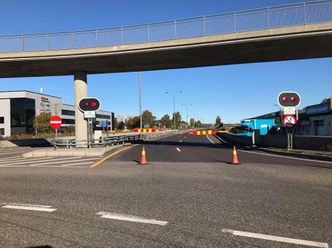 STENGT: Frodeåstunnelen er stengt på grunn av vedlikehold.