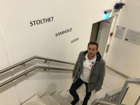 GÅR VIDERE: Kristian Rinaldo Pedersen var John Arne Riise og Flints første signering foran 2020-sesongen. Nå har han imidlertid valgt trenerjobb i Sandefjord Fotball framfor Flint-spill.