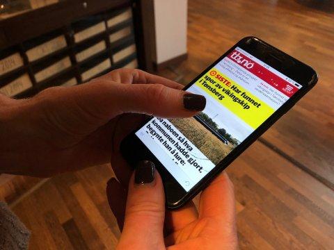 SISTE NYTT: Med tb.no-appen er du alltid oppdatert med siste nytt.