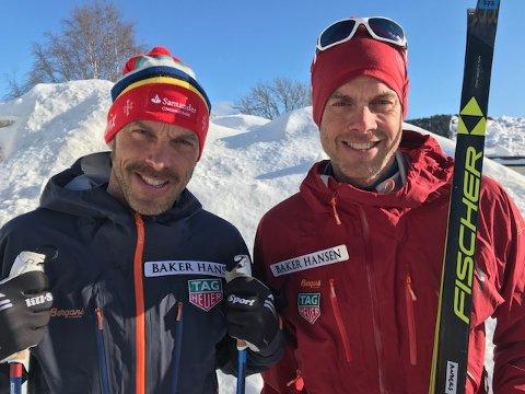 SPREKE LANGLØPERE: Anders (til venstre) og Jørgen Aukland skal på ski over Grønland i mai - i jakten på ny verdensrekord.