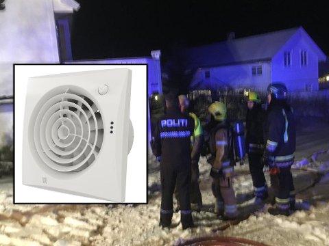 ÅRSAK: Politiet har funnet ut at det var en baderomsvifte som var årsaken til brannen i denne boligen på Fygle Foto: Kai Nikolaisen