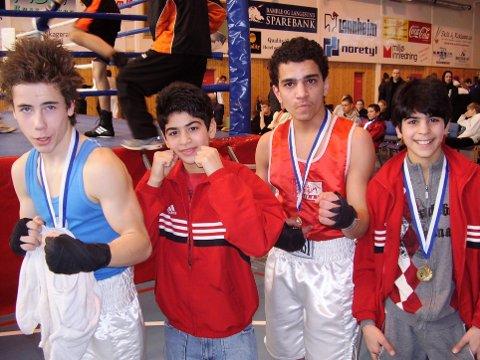 2008: TK-gjengen på stevne for ti år siden. Fra venstre Sverre Glad, Ali Srour, Amin Srour og Hadi Srour.