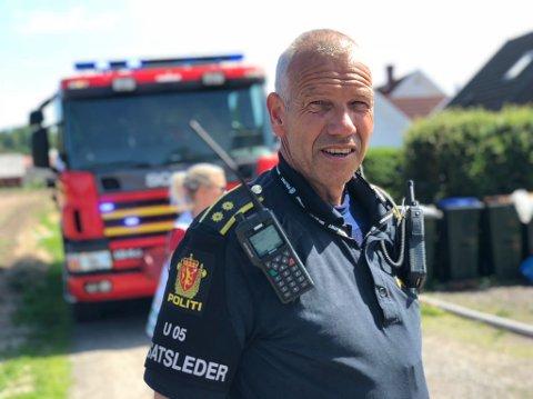 Politiets innsatsleder Rune Andersen