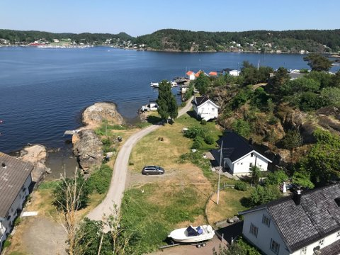 RØDE KORS: Kvinnene ble fraktet inn til Tjøme og Hvasser Røde Kors-stasjonen på Ferjeodden.