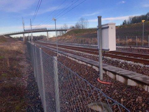 TOGPARKERING: I Barkåker-området ligger de to alternative plasseringene av hensettingsanlegg for togsett.