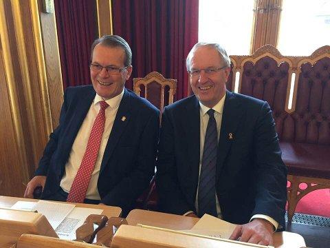 Alf Johan Svele og Petter Berg tok del i onsdagens åpningsseremoni.