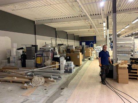 Butikken på Kilen blir over 200 kvadratmeter større. Arbeidene pågår fortsatt for fullt.